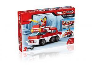 China Mini Fire Rescue DIY Building Blocks Educational Toys Convertable 3 Styles 220Pcs on sale