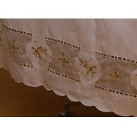 Vintage Style Cut Work Embroidery Table Cloth