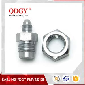 China qdgy steel material with chromed plated coating -3 AND -4 AN  SAE Brake Adapter Fittings TEE 7/16 X 24 I.F.FEMALE on sale