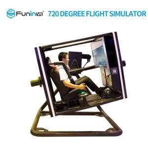 China Black 720 Degree VR Flight Simulator For Shopping Mall Large Size Powerful on sale