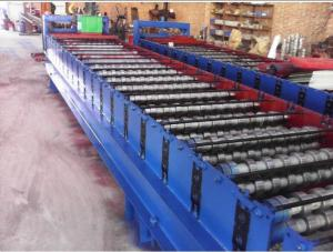 China Galvanized Metal Corrugated Sheet Roll Forming Machine With Hydraulic Cutter on sale
