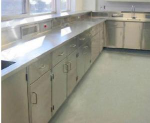 China Dental Laboratory Stainless Steel Lab Furniture Covered With 0.4mm High Pressure Laminate on sale