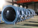 double eccentric butterfly valve with soft seat ductile iron body and disc DN3000 PN10 Series 14 face to face