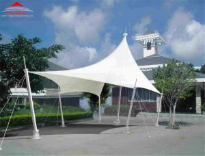 China Anti - UV Radiation Tensile Membrane Canopy For Hotel / Restaurant / Shop on sale