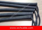 UL Spring Cable, AWM Style UL21754 14AWG 3C FT2 90°C 300V, PVC / TPU