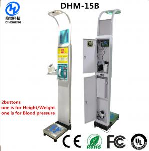 Quality ultrasonic electronic height and weight coin operated weighing scale with bmi for sale