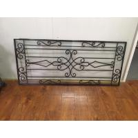 "Galvanized Wrought Iron Glass 22""*48"" Black Inlaid Double  Tempered Glass"