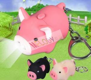 China PAT.P. PIGGY led keychain with sound Sound animal(piggy)voice With 2 led lights on sale