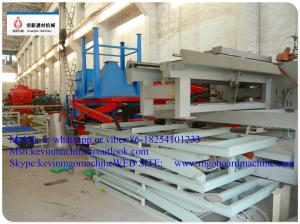 China Cold Pressure Two Sides Formed MgO Board Production Line For Construction Board Material on sale