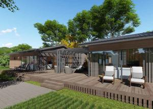 China Fine Steel Frame Prefabricated Houses / Removable Simple Wooden House on sale