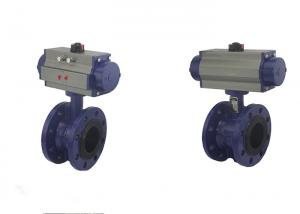 China Cast Steel WCB Metal Pneumatic Butterfly Valve With Pneumatic Actuator? on sale