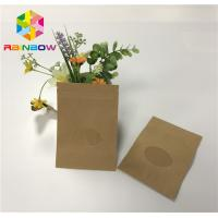 Three Side Sealed Kraft Stand Up Zipper Pouch Bags For Dried Fruit Packaging