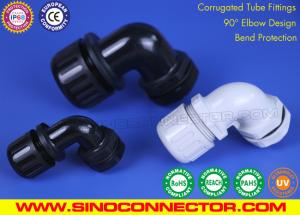 China 90° Elbow IP68 Waterproof Quick Connectors (Fittings) for Corrugated Tubes on sale