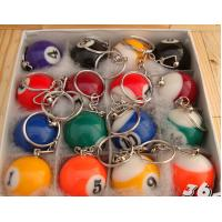 New creative gift product billiards table tennis keychain keyrings