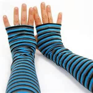 China Winter Thumb Hole Rabbit Knit Hand Arm Warmer Fingerless Long Gloves for school girl on sale