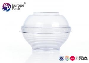China Dessert Clear Plastic Salad Bowls With Lids Disposable Serving Bowls on sale