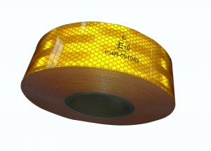 China Yellow Ece 104 Reflective Tape 5cm Width For Trucks Cars Trailer on sale