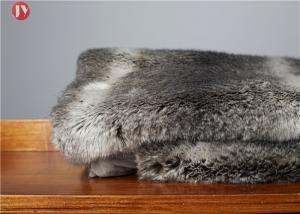 China Gray chinchilla Animal Print Faux Fur Blanket Ostrich Exotic Throws Comforters Mink Backing on sale