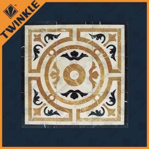 China Custom Natural Marble Stone Floor Medallions For Bathroom Floor , Square on sale