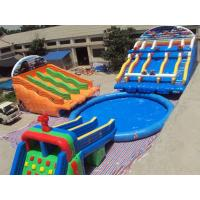 2014 New Design Inflatable Water Toys , Slide and Pool / Water Slide Park