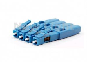 China Blue Fiber Optic Connectors Embedded Type FTTH Single Mode Fiber LC Connector on sale