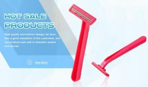 China Close Shave Good Max Razor Pink Color For Sensitive Skin With Lubricating Strip on sale