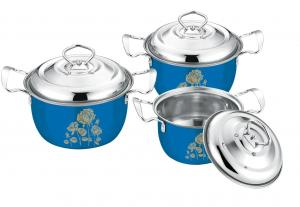 China 16 - 20cm Stainless Steel Pots And Pans Set High Polishing ECO - Friendly on sale