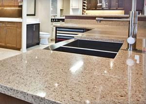China Giallo Alba Natural Stone Vanity Countertops for Kitchen Cabinet on sale