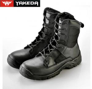 China Cow Leather Military Tactical Boots Abrasion Resistant Sandwich Mesh on sale