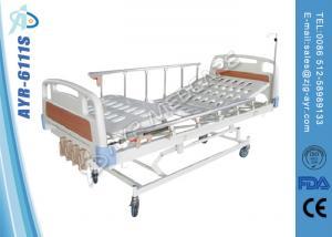 China Кровать раскосной больничной койки тормоза ручной протезная медицинская с рельсами алюминиевого сплава бортовыми on sale