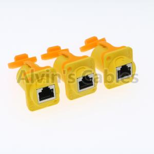 China IP65 Ethernet Waterproof RJ45 Connector Plug / Unplug Connecting Mode 1.5A on sale