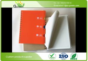 China 80 gram PP Hard Cover Spiral Notebook For Stationery Store / Advertising Promotion on sale