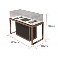 Brown + Mirror Rose Gold Jewelry Display Cases , Diamond Jewelers