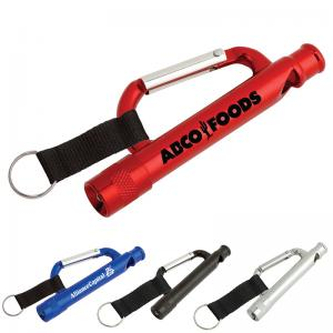 China Carabiner Flashlight, Aluminium Mini Carabiner LED Flashlight on sale