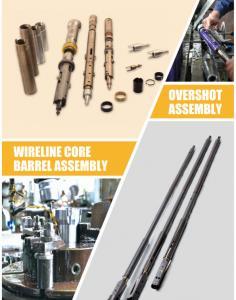 China Triple Tube Core Barrel Assembly / NQ3 HQ3 PQ3 Double Core Barrel Wire-Line Diamond Drilling on sale