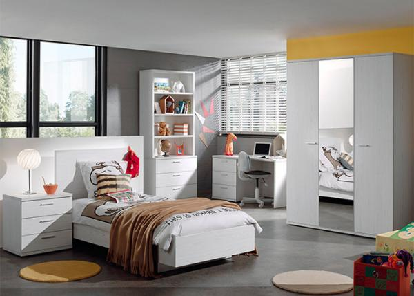 White Color Childrens Bedroom Furniture Sets High Gloss ...