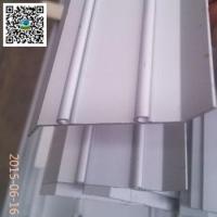anodized silver matt aluminum extrusion profile for shutters