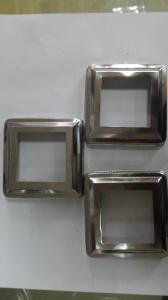 China 304 Stainless Steel Welded Pipe Square Tube End Caps 50*50 0.5-3.0 Thickness on sale