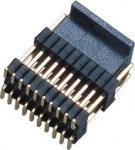 Do dobro duplo da fileira do conector do encabeçamento do Pin do homem 1.27*2.54mm da placa do PWB bronze plástico H=2.54 de SMT PA9T