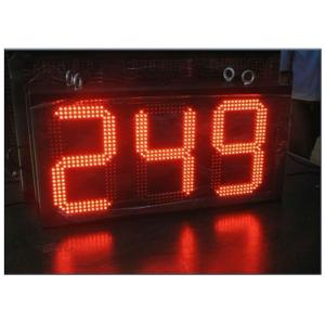 China Digital Clock Remote Tri Color LED Gas Station Sign Ultra Thin High Brightness on sale