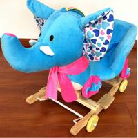 Cute Plush Rocking Elephent Animal Toys With Music For Children Riding On
