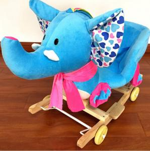 China Cute Plush Rocking Elephent Animal Toys With Music For Children Riding On on sale