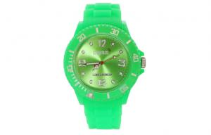 China Classic Silicone Wristband Watch kids Quartz Analog watch with alloy Bezel on sale