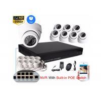 China HD 1080P 8CH NVR IP Camera NVR Kit 2mp Dome Cctv Camera Kit SATA HDD Recording on sale