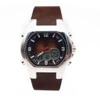 Sport Unisex sunray dial brown leather band mens watch as gift