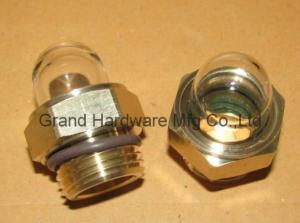 China male NPT pipe thread 1/4 inch high pressure brass flow indicators for radiators on sale