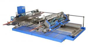 China Professional Blue Glass Straight Line , Double Edger Machine High Speed,Double Glass Edger,Straight Line Glass Edger on sale