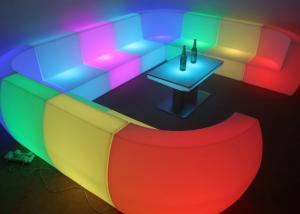 China Custom Made Royal Furniture L Shape LED Sofa Set for Hotel , Resorts pub on sale