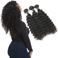 China Real 9A 20 Inch Deep Wave Curly Hair Extensions 3 Bundles Prevent Shedding on sale