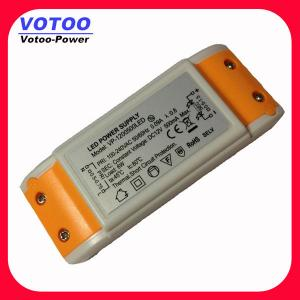 China 12W LED Light Power Supply 12V AC-DC Constant Voltage LED Driver on sale